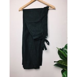 Banana Republic Black Linen Wide Leg Pants